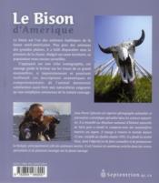 Le bison d'Amérique - 4ème de couverture - Format classique