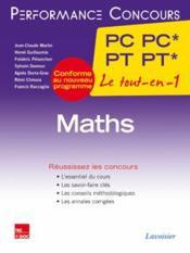 PERFORMANCE CONCOURS ; mathématiques ; 2e année PC PC - PT PT - Couverture - Format classique