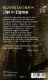 L'âme de l'Empereur - 4ème de couverture - Format classique