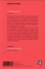 Revue Poetique N.176 - 4ème de couverture - Format classique