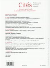 REVUE CITES T.60 ; que pensent et que veulent les neurosciences cognitives ? - 4ème de couverture - Format classique
