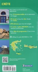 Le Guide Vert ; Crète - 4ème de couverture - Format classique
