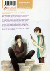 Sekaiichi Hatsukoi ; le cas de Ritsu Onodera T.2 - 4ème de couverture - Format classique