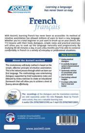 French ; beginners and false beginners B2 - 4ème de couverture - Format classique