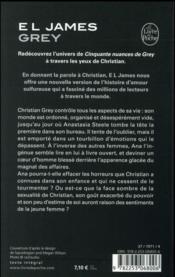 Cinquante nuances T.4 ; Grey ; cinquante nuances de Grey par Christian - 4ème de couverture - Format classique
