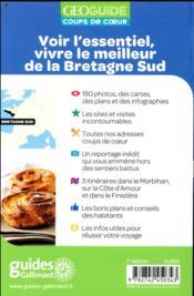 GEOguide coups de coeur ; Bretagne sud - 4ème de couverture - Format classique