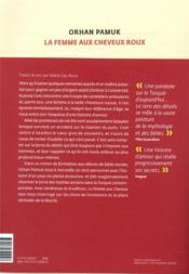 La femme aux cheveux roux - 4ème de couverture - Format classique