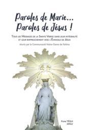 Paroles de Marie... paroles de Jésus ! - Couverture - Format classique