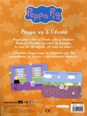 Décors et autocollants ; Peppa Pig ; Peppa va à l'école - 4ème de couverture - Format classique
