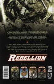 Star Wars - rébellion t.4 ; mon frère, mon ennemi - 4ème de couverture - Format classique