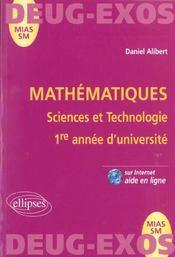 Mathématiques ; sciences et technologies ; 1re année d'université - Intérieur - Format classique
