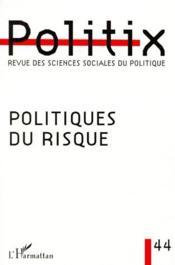 Politiques du risque - Couverture - Format classique