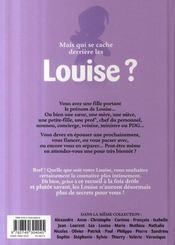L'encyclopédie des prénoms t.26 ; Louise - 4ème de couverture - Format classique