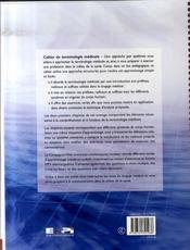 Cahier de terminologie médicale - 4ème de couverture - Format classique