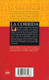La corrida - 4ème de couverture - Format classique