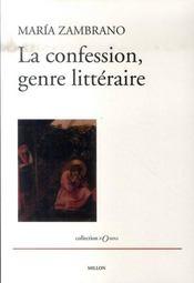 La confession, genre littéraire - Intérieur - Format classique