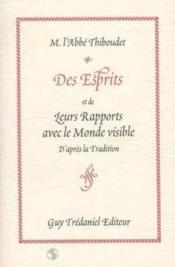 Esprits Et De Leurs Rapports Avec Les Monde - Couverture - Format classique