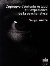 L'épreuve d'Antonin Artaud et l'expérience de la psychanalyse - Intérieur - Format classique