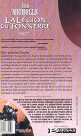 Orcs T.2 ; la légion du tonnerre - 4ème de couverture - Format classique