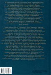 History of civilizations of central asia volume ii - 4ème de couverture - Format classique