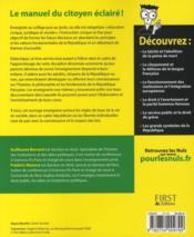 L'instruction civique. les grands débats de l'histoire de France, les droits et les devoirs du citoyen, les valeurs et les fondements de la République f - 4ème de couverture - Format classique