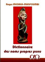 Dictionnaire des noms propres punu - Couverture - Format classique