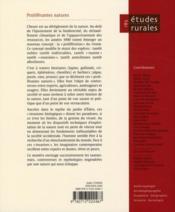 Revue Etudes Rurales N.185 ; Proliférantes Natures - 4ème de couverture - Format classique