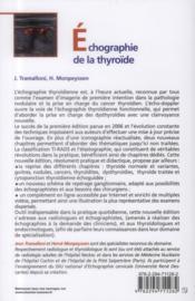 Échographie de la thryroïde (2e édition) - 4ème de couverture - Format classique