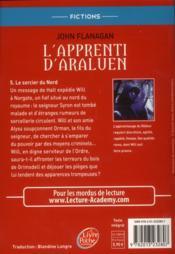 L'apprenti d'Araluen t.5 ; le sorcier du Nord - 4ème de couverture - Format classique