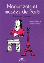 Monuments et musées de Paris - Couverture - Format classique