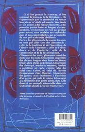 Glissements du roman francais au xxeme siecle - 4ème de couverture - Format classique