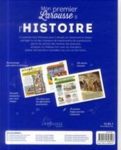 Mon premier Larousse de l'histoire - 4ème de couverture - Format classique