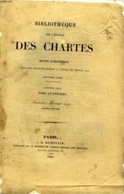 Bibliotheque De L'Ecole Des Chartes - Deuxieme Serie - Tome 4 - Janvier Fevrier - Couverture - Format classique