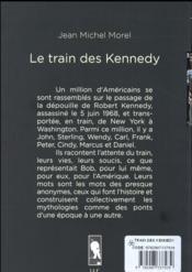 Le train des Kennedy - 4ème de couverture - Format classique