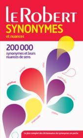 Dictionnaire Le Robert synonymes et nuances (édition 2015) - Couverture - Format classique