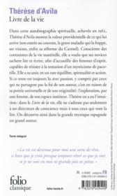 Livre de la vie - 4ème de couverture - Format classique