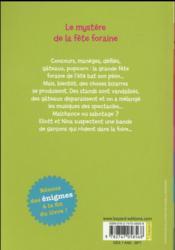 Les enquêtes d'Eliott et Nina T.5 ; le mystère de la fête foraine - 4ème de couverture - Format classique
