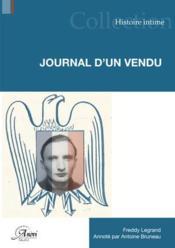 Journal d'un vendu - Couverture - Format classique