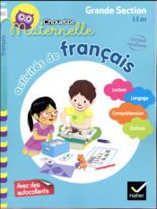 Chouette maternelle ; activités de français ; grande section - Couverture - Format classique