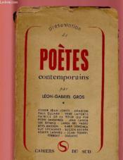 Presentation De Poetes Contemporains - Couverture - Format classique