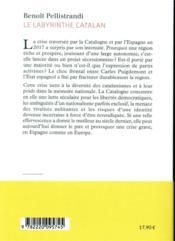 Le labyrinthe catalan ; une nouvelle Yougoslavie ? - 4ème de couverture - Format classique