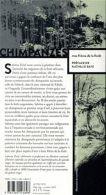 Chimpanzés, mes frères de la forêt - 4ème de couverture - Format classique
