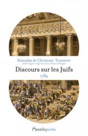 Discours sur les juifs 1789 - Couverture - Format classique