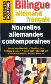 Nouvelles Allemandes Contemporaines - Intérieur - Format classique