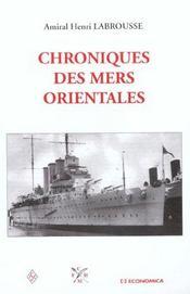Chroniques des mers orientales - Intérieur - Format classique