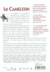 Le caméléon. l'invraisemblable histoire de Frédéric Bourdin - 4ème de couverture - Format classique