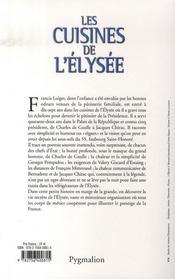 Les cuisines de l'Elysée ; le pâtissier des présidents raconte - 4ème de couverture - Format classique