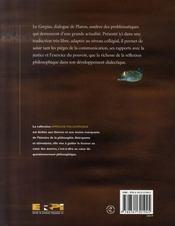 De la persuasion ; étude du gorgias de platon - 4ème de couverture - Format classique