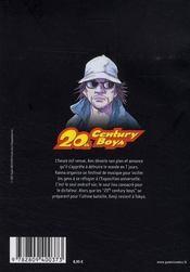 20th century boys t.22 - 4ème de couverture - Format classique