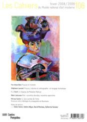 Cahiers Du Musee National D'Art Moderne N.106 - 4ème de couverture - Format classique